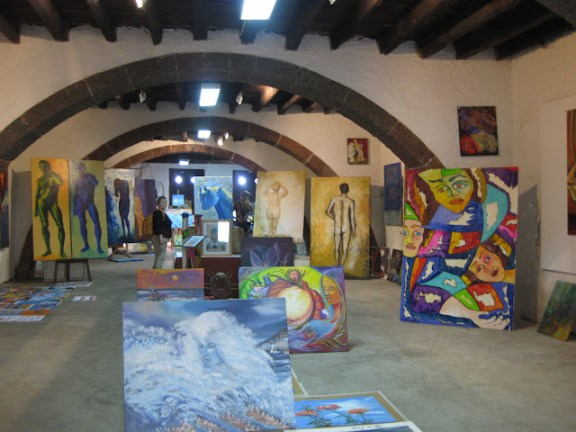 Art gallery in the old town of Funchal, Madeira