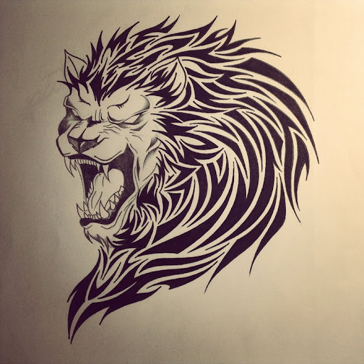 tribal lions tattoos
