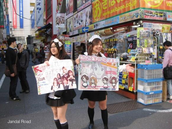 Maid duo in Akihabara