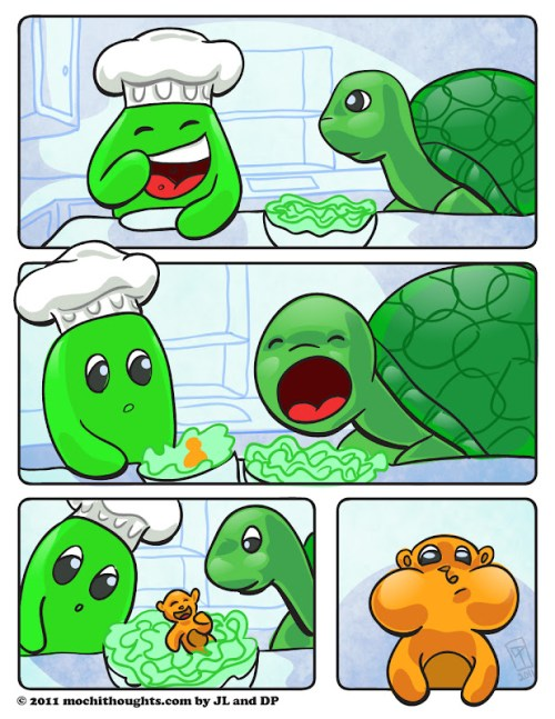 Cute webcomic Eating their Fill