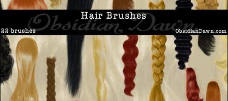 [Brushes整理]頭髮、髮型、髮片筆刷集-1