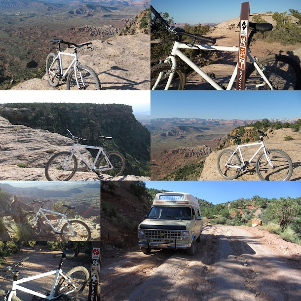 Mountain Biking Gooseberry Mesa Collage