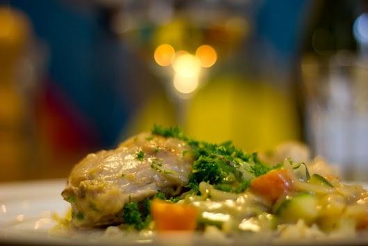 Alsaceinspireret kanin med spätzle og sennep