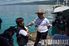 ABS-CBN Host Onnie Alfaro talks with Leticia by the Sea owner Ray de la Paz