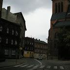 Turn of a 19th century buildings on Bożogrobców Street, Mary Magdalene parish on the right.