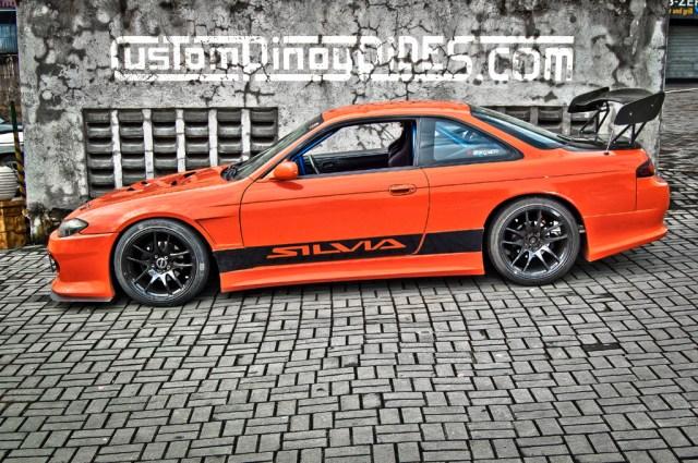 Charles Sevilla Orange Nissan S14 Silvia Side Profile Custom Pinoy Rides