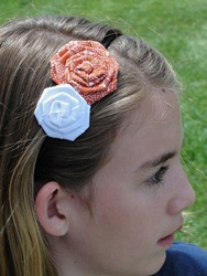Prettylicious Orange & White Headband