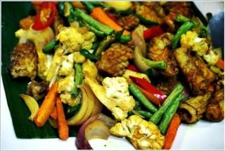Buffet ramadhan terbaik - sayur campur