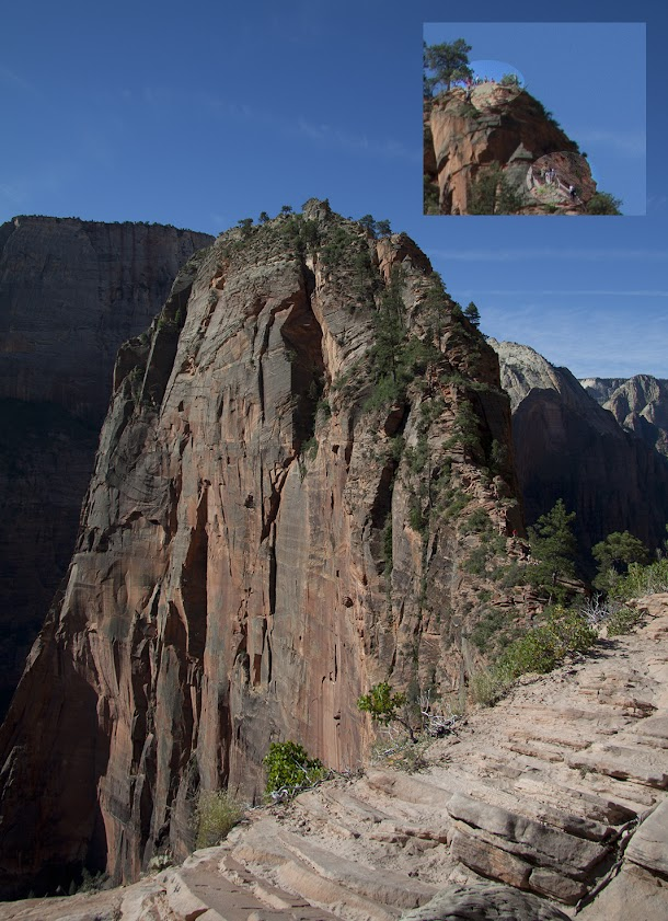 The Route to Angels Landing with Englarged Section