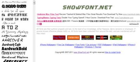 [網站]showfont.net-免費英文字型