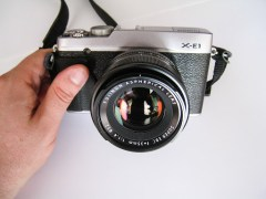 Fuji X-E1 with XF 35mm F1.4 attached