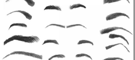[Brushes整理]眉毛筆刷集-1