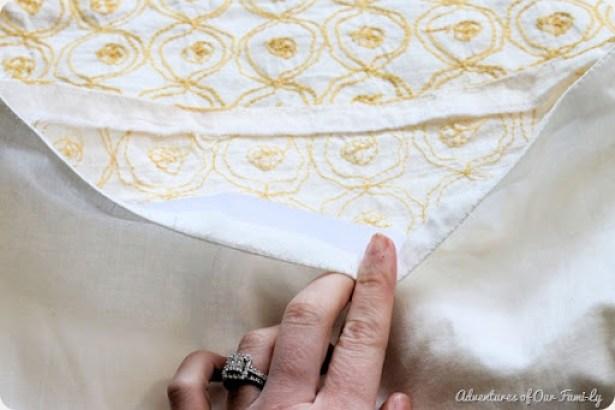 no sew pillowcase open seam