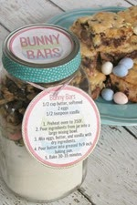 Clean and Scentsible - Bunny Bars Free Easter Recipe Gift Tag Printable