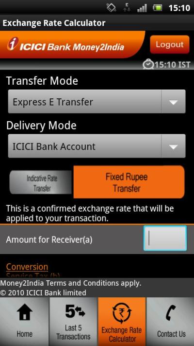ICICI Bank Money2India - App Android su Google Play