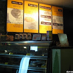 Fagioli welcomes customers with a large menu list and a cake counter