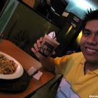 Hubby is enjoying his Tiramisu coffee blend and Puttanesca at Fagioli Coffee Club