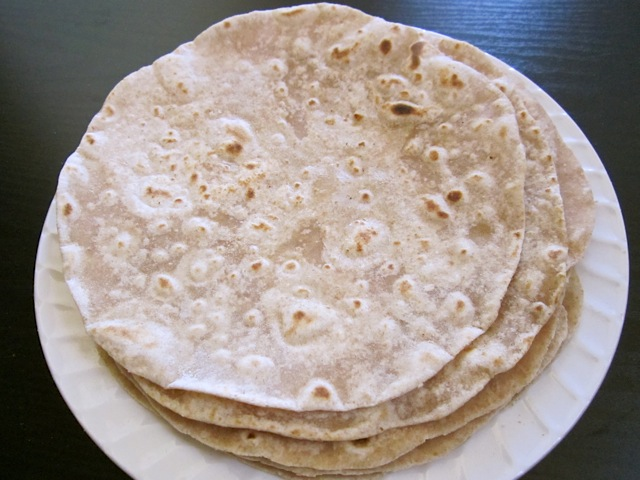cooked flour tortillas