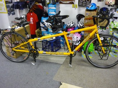 A beautiful tandem, with a new drivetrain after only 1000kms. How good is 10 speed?