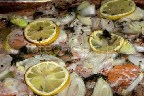 Łosoś pieczony w winie zdrowe wykwintne wloska srednie ryby i owoce morza pieczone europejska danie glowne  przepis foto