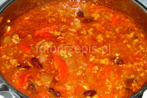 Chili Con Carne wieprzowina meksykanska latwe jednogarnkowe danie glowne  przepis foto