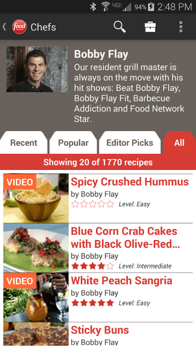 Food Network In the Kitchen - Android Apps on Google Play