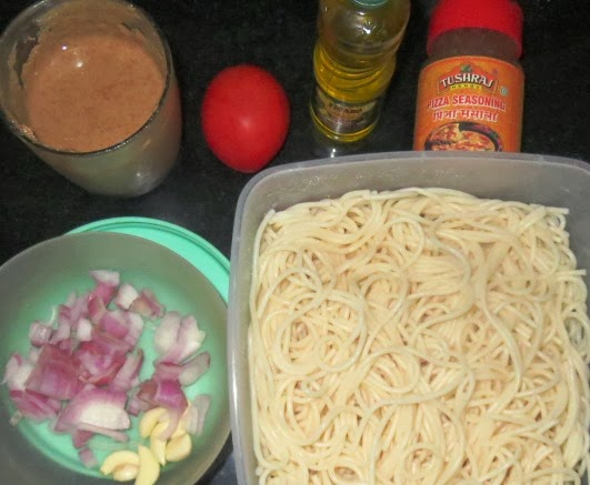 Almond Butter Pasta Recipe | Spaghetti in a quick almond butter sauce