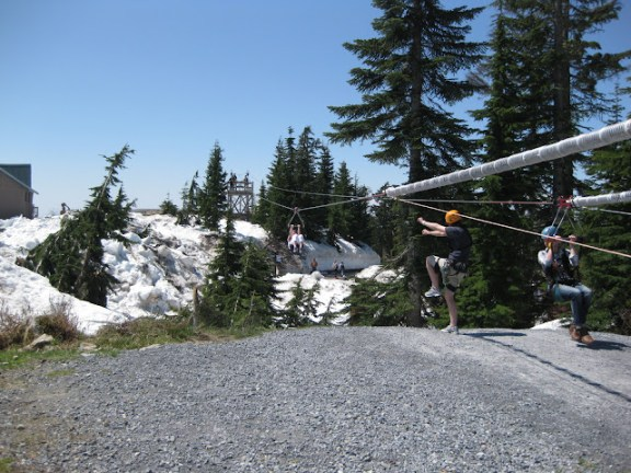 Zipline on Grouse Mountain, Vancouver