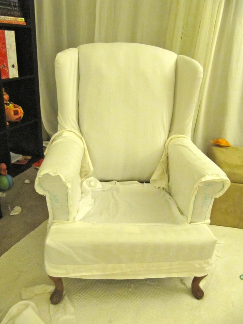 Medium Of Wing Chair Slipcover
