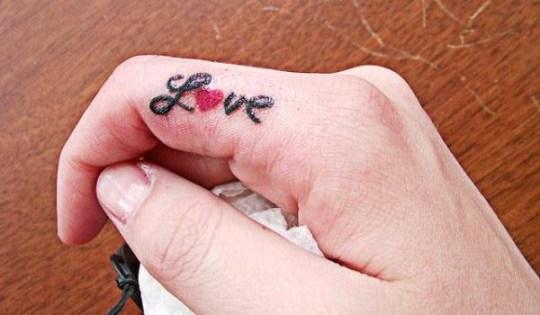 love finger tattoos