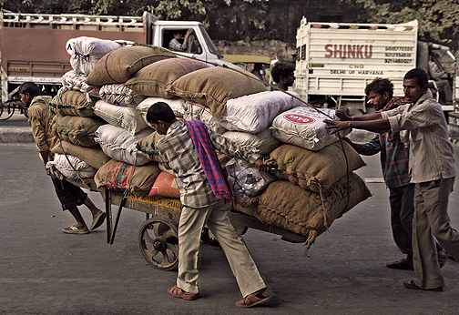 Human Plows of Chandni Chowk