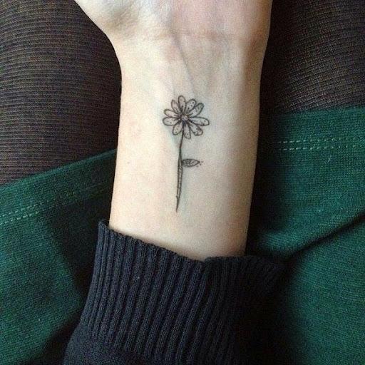 flower tattoos for girls on wrist