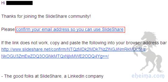 slideshare確認信