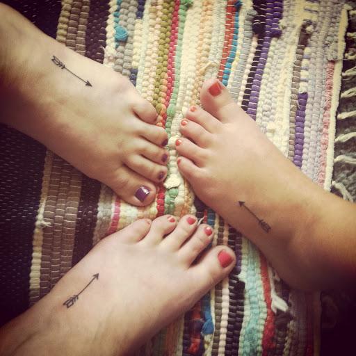 Arrow tattoos  best friends matching