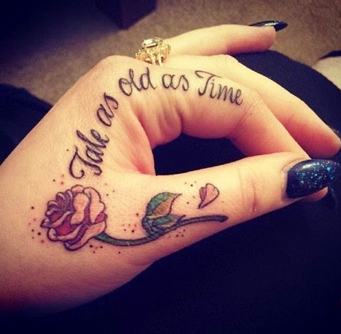 small quotes tattoos for girls on finger