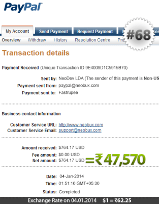 Neobux Payment Proof 68