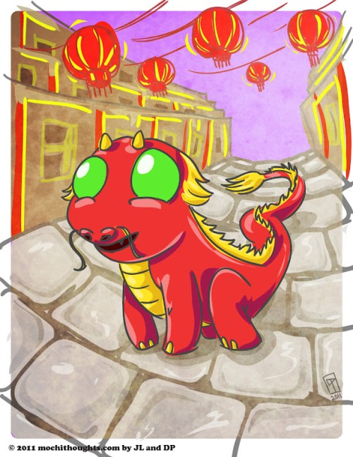 Cute Illustration, Year of the Dragon