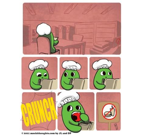 Cute Food Comic, Crunch and Munch