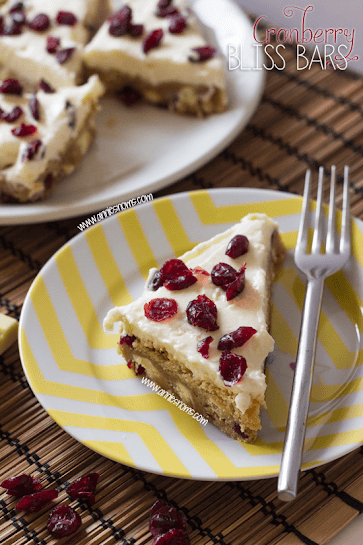 Cranberry Bliss Bars by Annie's Noms