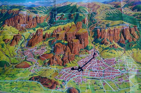 Map of Meteora
