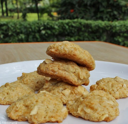 Eggless Soft White Chocolate Chunk Cookies Recipe
