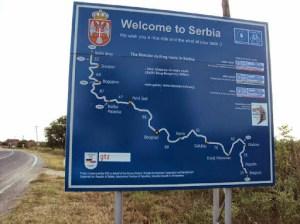 Endlich in Serbien, mit netter Begrüßung!