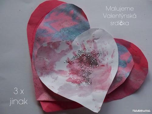 Srdíčka na Valentýna malování