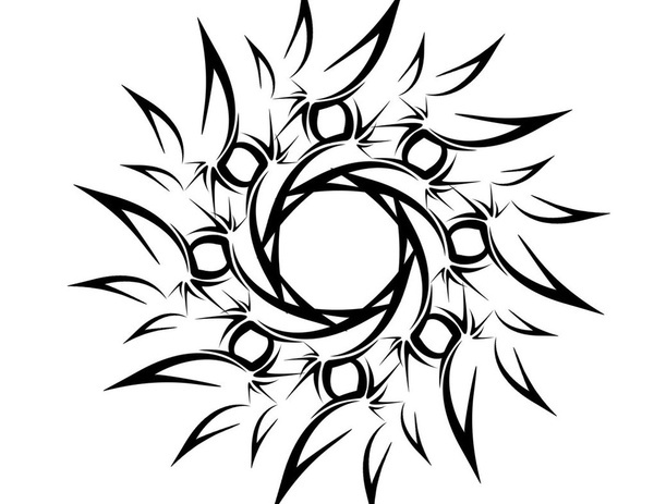 tribal sun tattoos designs