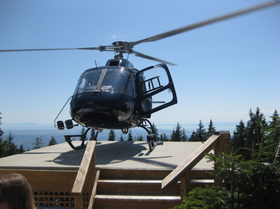 My new favourite means of transport! - helicopter on Grouse Mountain