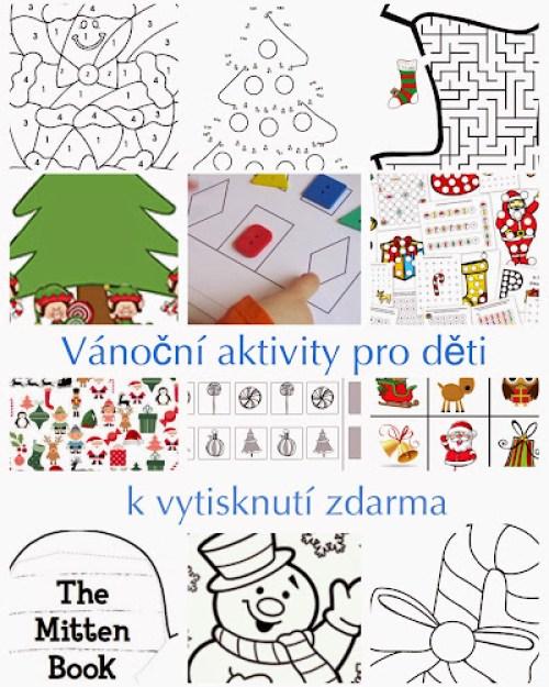 Vánoční aktivity k vytisknutí zdarma