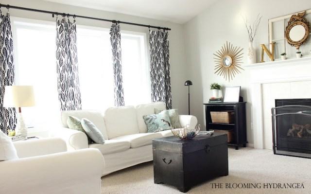 ektorp couch white gray living room black gold