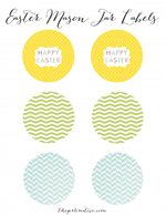 The Girl Creative - Free Hersheys Kiss Mason Jar Happy Easter Printables