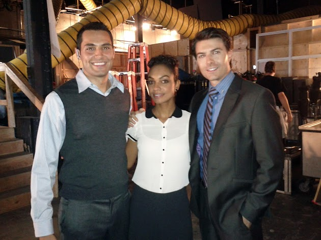 Samy Osman, Lyndie Greenwood and Noah Bean reunited on set of Nikita