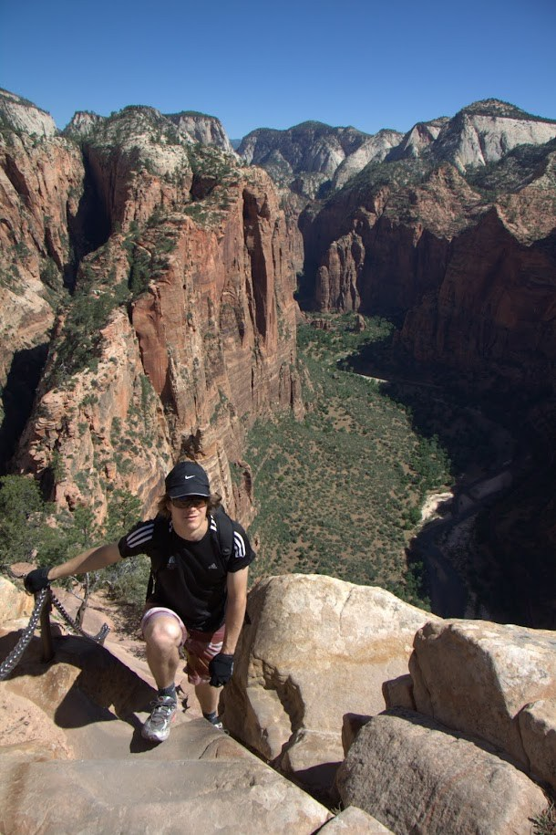 Climbing Up to Angels Landing